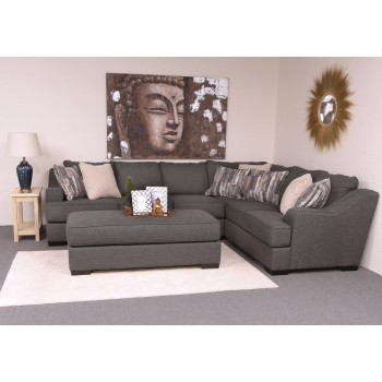 Stacia 2-Piece Sectional (Sadie Iron) (RFTS/LFS)