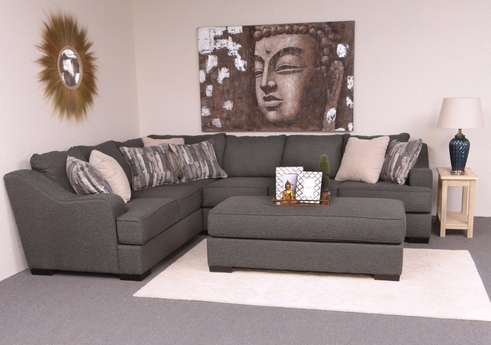 Outstanding Stacia 2 Piece Sectional Sadie Iron Lfts Rfs Evergreenethics Interior Chair Design Evergreenethicsorg