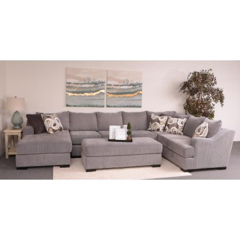 Stacia 3-Piece Sectional (Watson Platinum) (LFC/AS/RFTS)