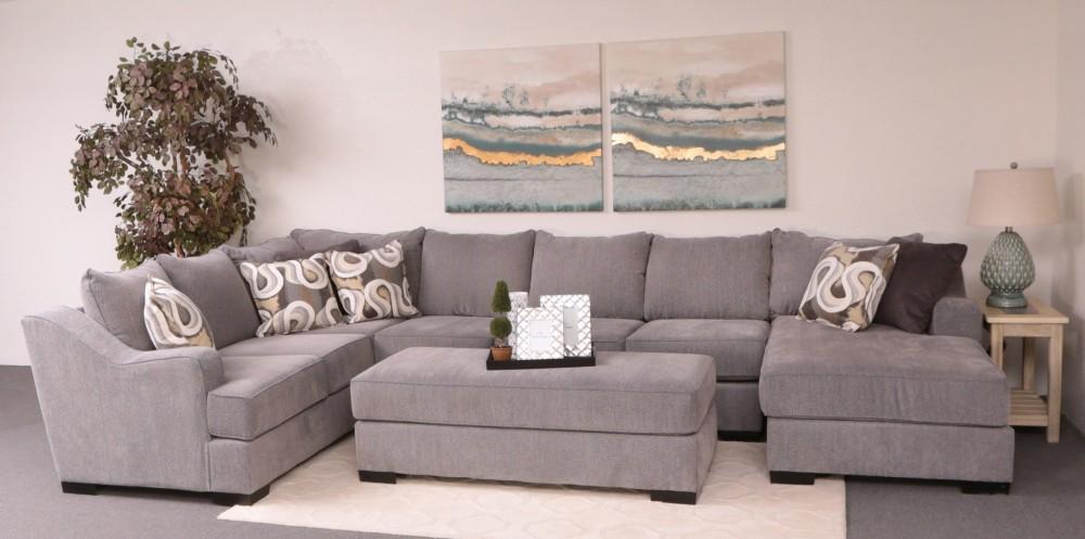 Remarkable Stacia 3 Piece Sectional Watson Platinum Rfc As Lfts Evergreenethics Interior Chair Design Evergreenethicsorg
