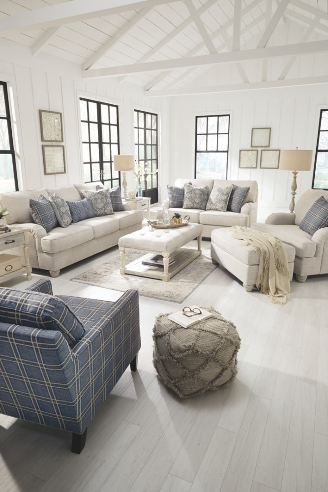 Traemore Linen Package 3 Sofa Loveseat Coffee Table 2 End Tables