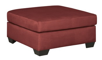 Darcy - Salsa - Oversized Accent Ottoman