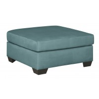 Darcy - Sky - Oversized Accent Ottoman