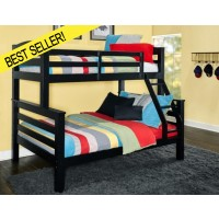 Twin Full Black Bunk Bed
