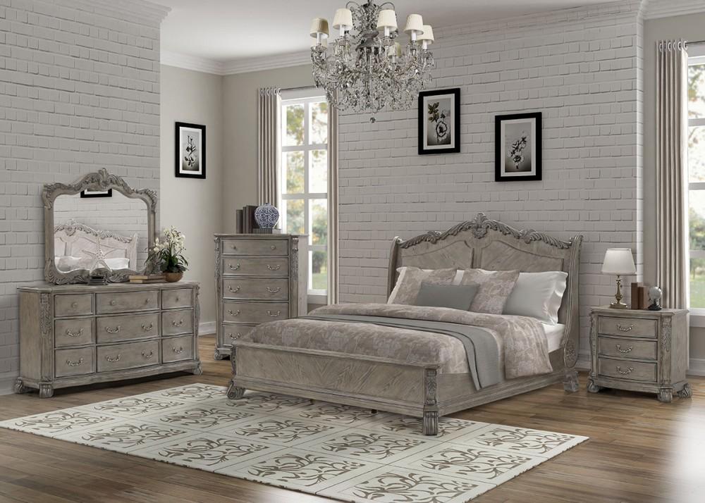 Dresser, Mirror & Queen Bed - B103