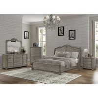 Dresser, Mirror, Chest & Queen Bed - B103