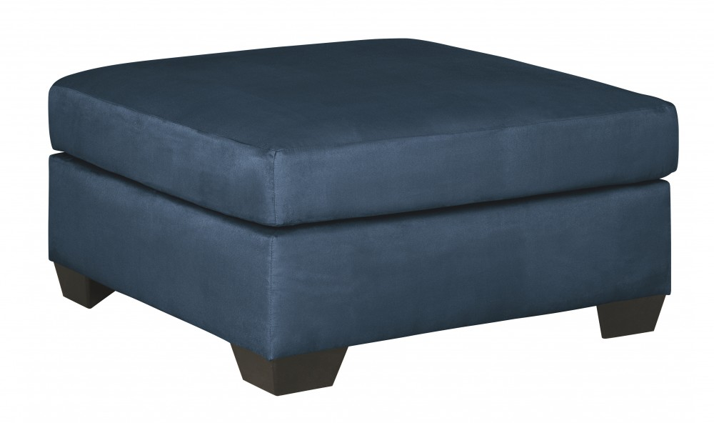Darcy - Blue - Oversized Accent Ottoman