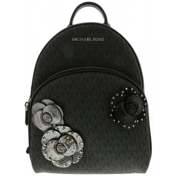Michael Kors Abbey Black Floral Backpack