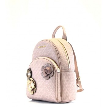 Michael Kors Abbey Ballet Pink Floral Backpack