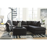 Darcy- Black Sofa Chaise Sectional