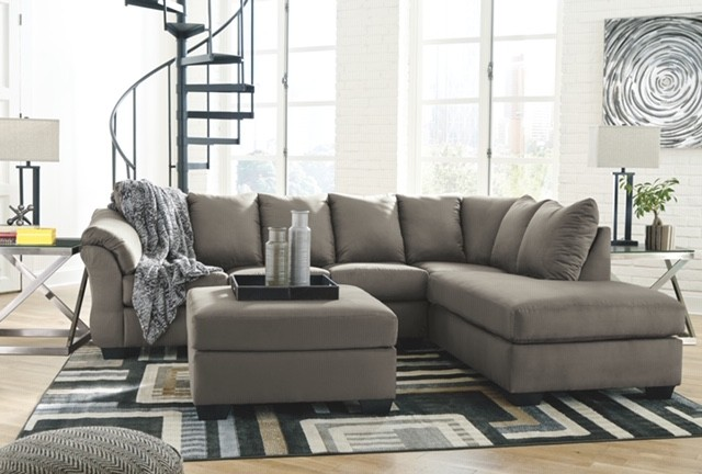 Darcy- Cobblestone Sofa Chaise Sectional