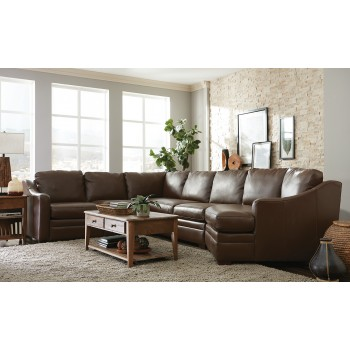 Monument Leather Sectional