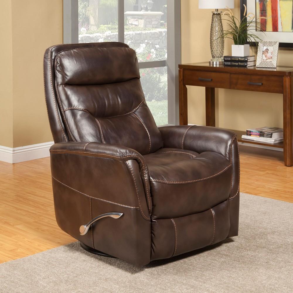 Pruitts Bedroom Furniture: Gemini Truffle Swivel Glider Recliner