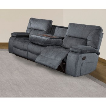 Chapman Polo Reclining Sofa with Drop-down Console