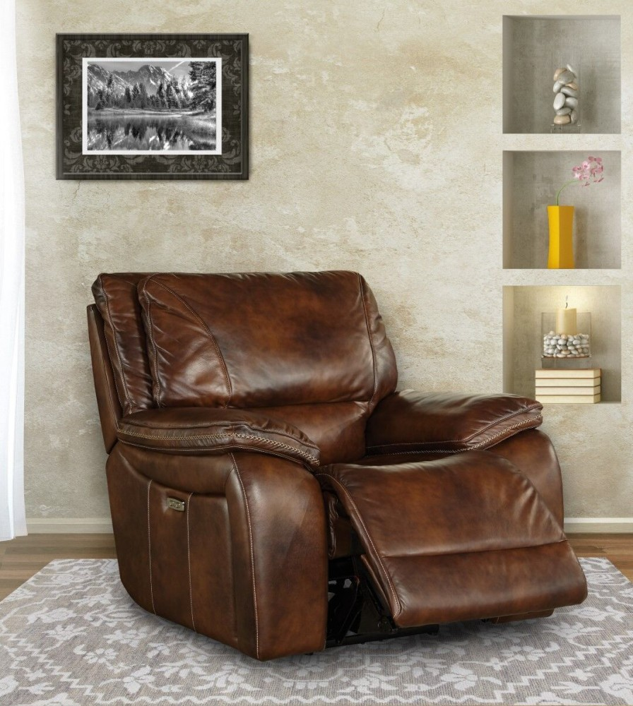 Vail Burnt Sienna Power Recliner