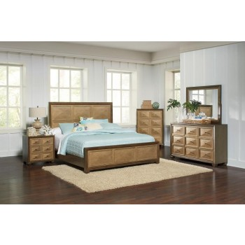 Wheatland Transitional Sage and Antique Gold Queen Four-Piece Set