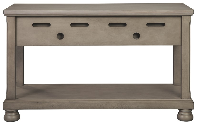 Magnificent Lettner Gray Console Sofa Table Creativecarmelina Interior Chair Design Creativecarmelinacom