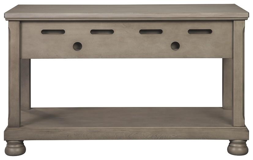Sensational Lettner Gray Console Sofa Table Beatyapartments Chair Design Images Beatyapartmentscom