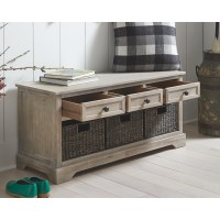 Oslember - Light Brown - Storage Bench