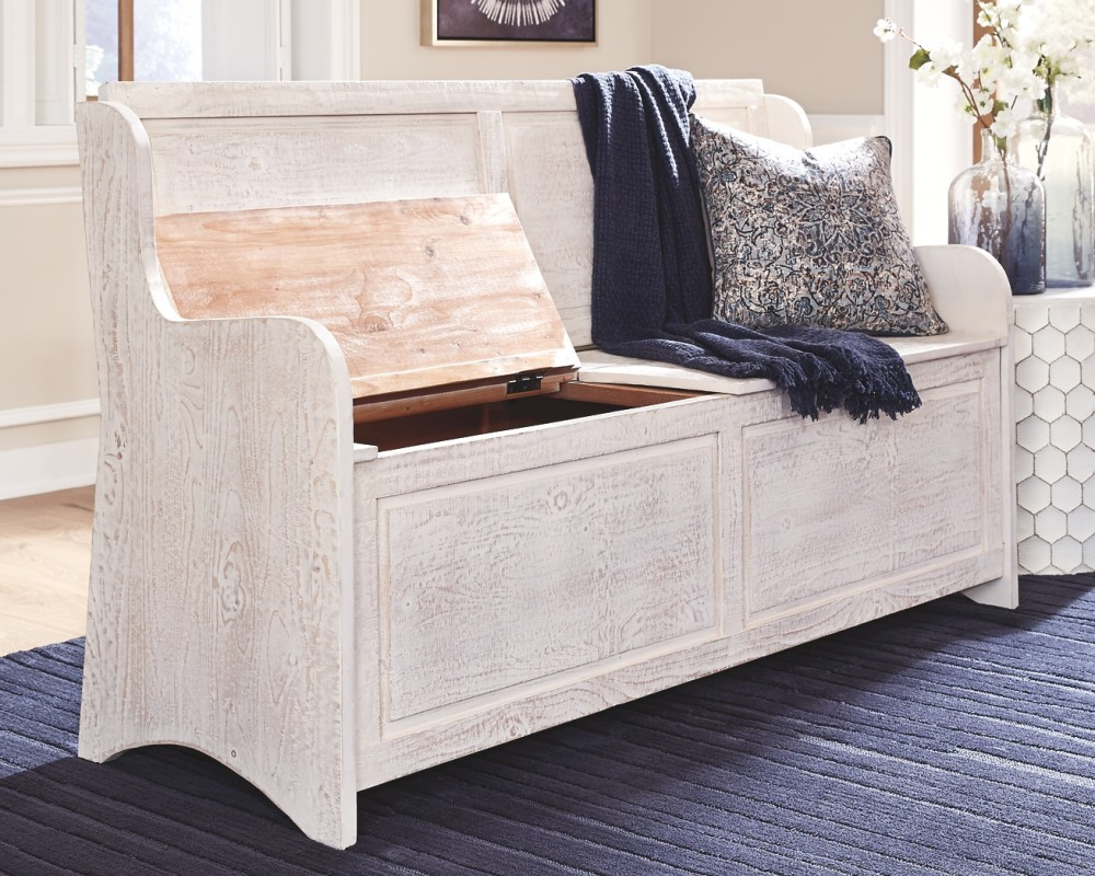 Dannerville - Antique White - Storage Bench