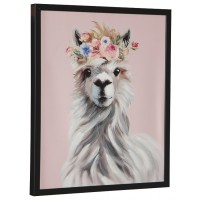 Josie - Pink/White/Gray - Wall Art