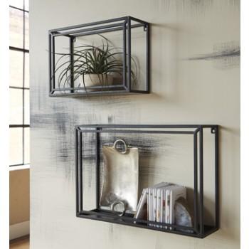 Ehren - Black - Wall Shelf Set (2/CN)