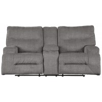Coombs - Charcoal - DBL Rec Loveseat w/Console