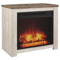 Willowton - Whitewash - Fireplace Mantel w/FRPL Insert