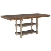 Lettner - Gray/Brown - RECT DRM Counter EXT Table