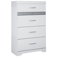 Jallory - White - Five Drawer Chest