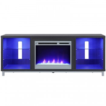 Tv Stand with fireplace!  LED LIGHTS