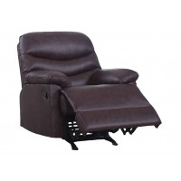 Comfort Brown Vinyl Recliner
