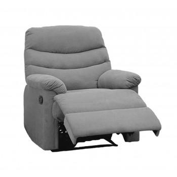 Comfort Gray Microfiber Recliner