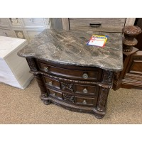 Marble Nightstand w/ USB outlets and power outlets