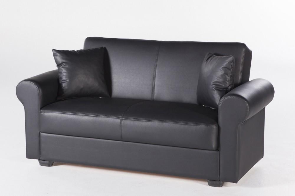 Excellent Istikbal Floris Santa Glory Black Loveseat Pabps2019 Chair Design Images Pabps2019Com