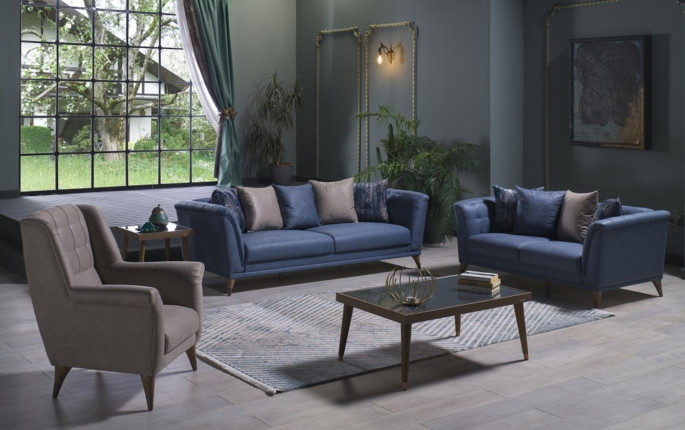 Istikbal Selegno Melson Navy Sofa + Loveseat + Armchair