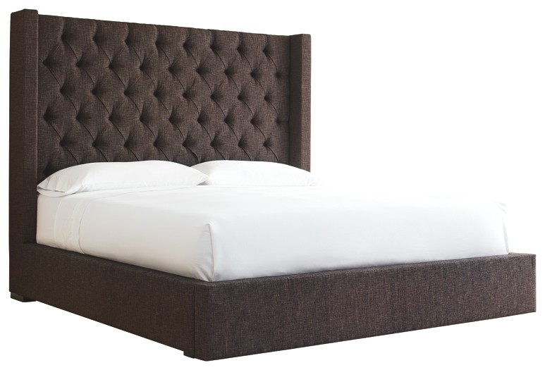 Norrister - King Upholstered Upholstered Bed with 1 Large Storage Drawer