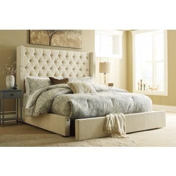 Norrister California King Upholstered Storage Bed