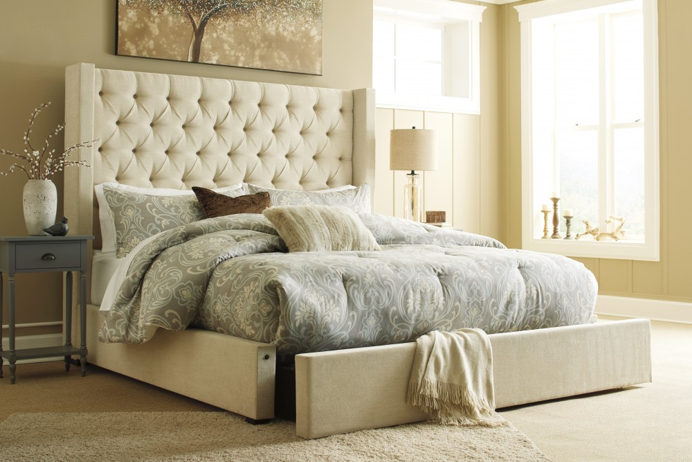 Norrister California King Upholstered Storage Bed
