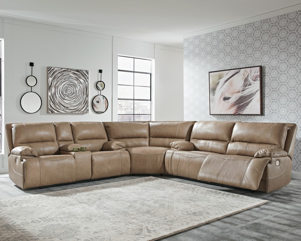 Ricmen - Ricmen 3-Piece Reclining Sectional with Power