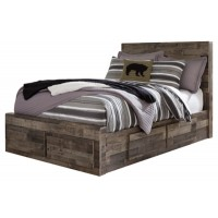 Derekson - Full Panel Bed with 6 Storage Drawers