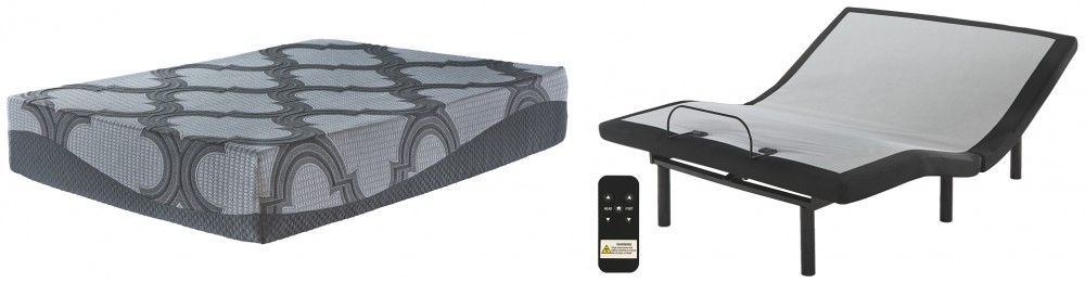 12 Inch Ashley Hybrid - King Adjustable Base and Mattress