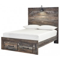 Drystan Full Panel Bed with Storage