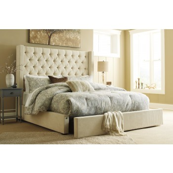 Norrister - Norrister Queen Upholstered Bed with Storage