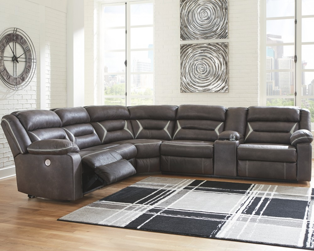 Kincord - 4-Piece Power Reclining Sectional