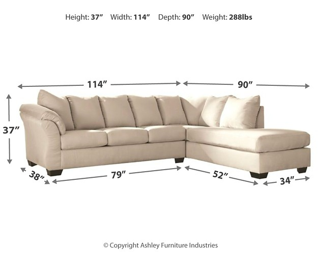 Pleasing Darcy Darcy 2 Piece Sectional With Chaise And Sleeper Gmtry Best Dining Table And Chair Ideas Images Gmtryco