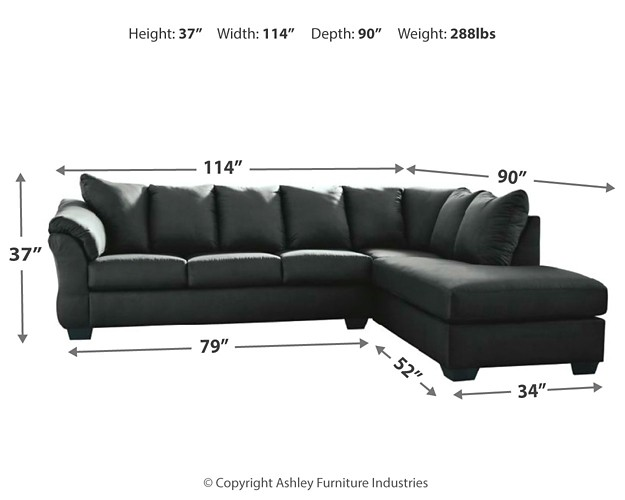 Admirable Darcy 2 Piece Sectional With Chaise And Sleeper Gmtry Best Dining Table And Chair Ideas Images Gmtryco