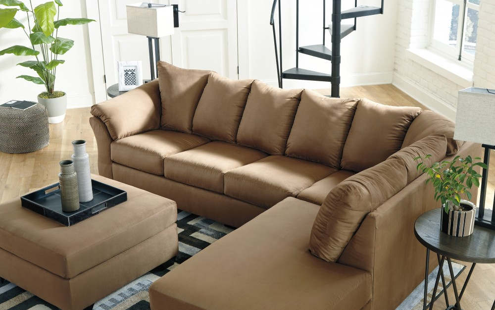 Awe Inspiring Darcy 2 Piece Sectional With Chaise And Sleeper 75002S5 17 Gmtry Best Dining Table And Chair Ideas Images Gmtryco