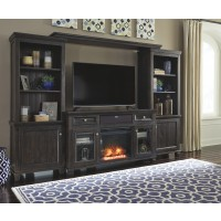 Townser - 4-Piece Entertainment Center with Electric Fireplace
