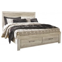 Bellaby - King Platform Bed with 2 Storage Drawers